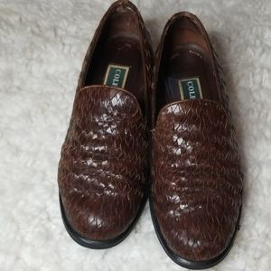 Cole Haan Brown Basket Weave Flats Size 6